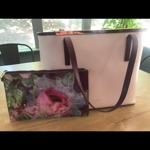 Ted Baker London Tote + Floral Pochette